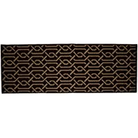 Kashi Home Aztec Collection Traditional Style Decorative Egyptian Accent Rug, Brown, 20 x 60