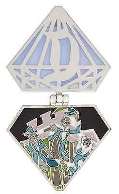 (DISNEYLAND DIAMOND PIN HAUNTED MANSION GHOSTS ANNUAL PASSHOLDER. EXCLUSIVE LE)