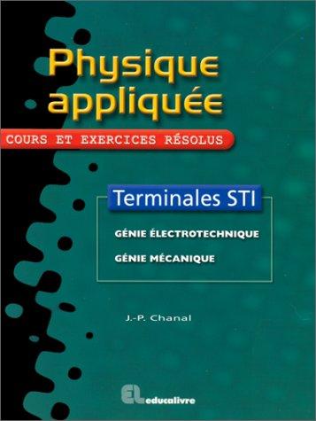 Telecharger Physique Appliquee Terminale Sti Pdf De Chanal Bacertapu