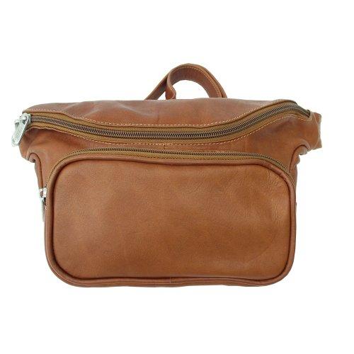 Piel Leather Large Classic Waist Bag, Saddle, One (Piel Fanny Pack)