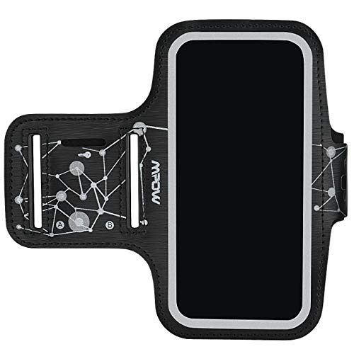 Mpow Phone Armband for Running, Running Phone Armband for iPhone XR XS X 8, Samsung Galaxy S9 S8 S7[Up to 5.9''], with Headphone Slot Key Slot for Running Exercise, Starry Sky Pattern ()