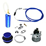NORTHTIGER Blue Carburetor&Power Boost Bottle&Air Filter Fit 49/60/66/80cc Motorized Bike