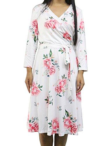 White Floral Dress - 6