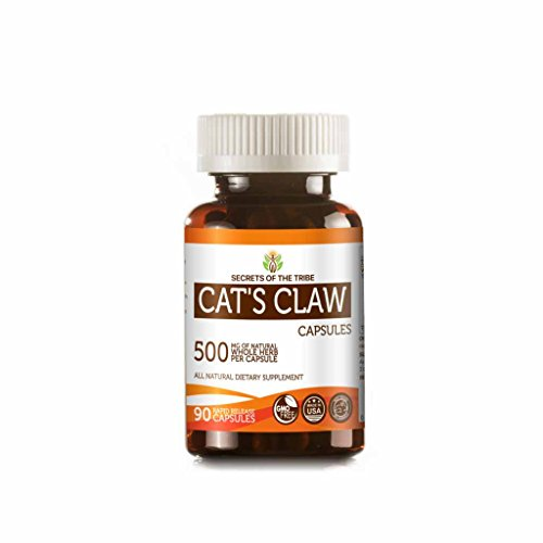 Cat's Claw 90 Capsules, 500 mg, Wildcrafted Cat's Claw (Uncaria Tomentosa) Dried Inner Bark (90 Capsules)
