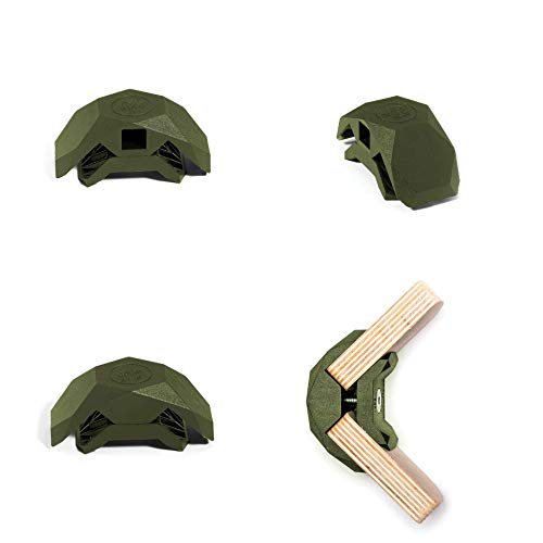 PlayWood Connector for Tool-Free Modular Pop-Up Furniture & Storage Assembly (Military Green, 90 Degree, 1 Box)