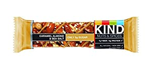 KIND Nuts & Spices rRBGI Bars, Caramel Almond and Sea Salt, 36 Count FBwcr from KIND
