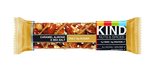 KIND Nuts & Spices wcedg Bars - Caramel almond and sea salt - 6 Count by KIND