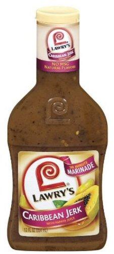 Lawry's Caribbean Jerk w/Papaya Juice 30 Minute Marinade-3 (THREE) 12oz Bottles