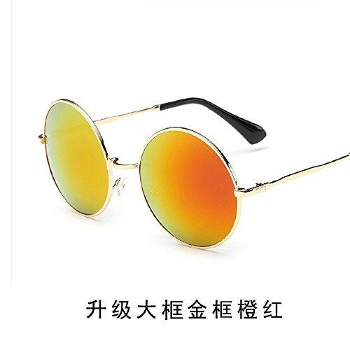 Sol Conducir JUNHONGZHANG Mercurio Gafas Gafas Espejo Hombre Redondas De Par Sol Conductor De Retro Gafas Sol Gafas del Rojo De TTOq1