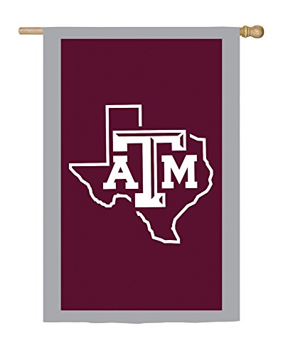 Team Sports America Applique Texas A&M House Flag, 28 x 44 inches