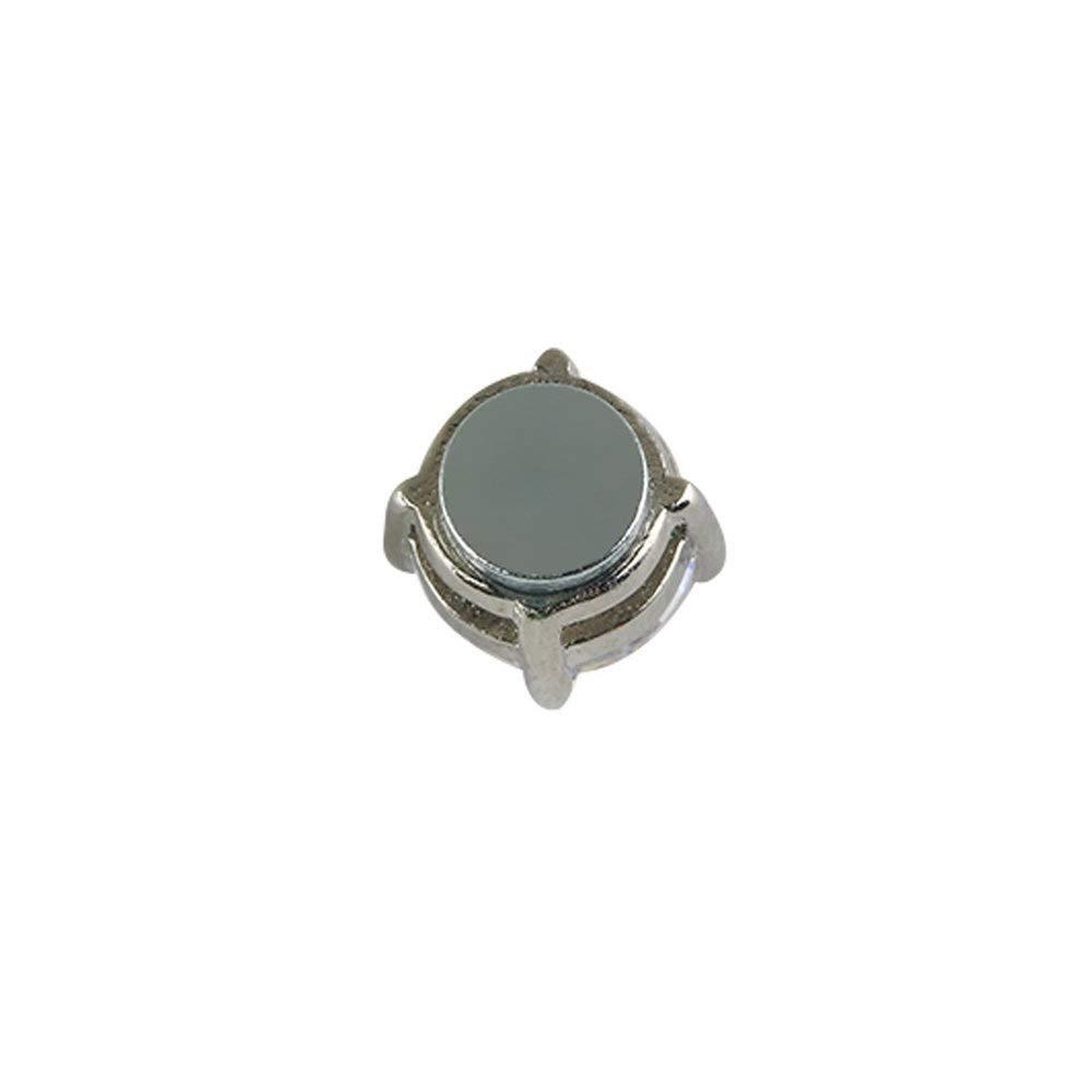 1 Paio di Orecchini alla Moda da Uomo magnetici in Cristallo Trasparente Unisex da Uomo con Borchie Bianchi