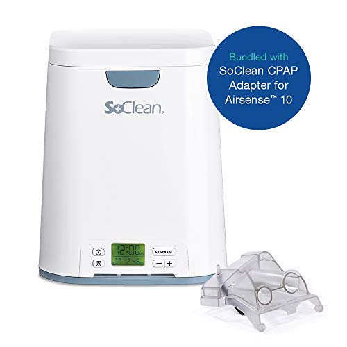 SoClean Bundle of 1 SoClean 2 CPAP Cleaner and Sanitizer Machine + 1 SoClean Adapter for ResMed AirSense 10 and AirCurve 10 Series CPAP Machines, Automated Sanitizing After One-Time Set Up