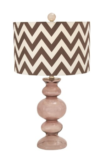 Deco 79 Glass Bubble Table Lamp, 26-Inch, Brown