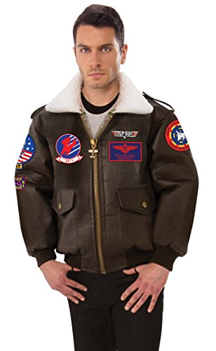 Rubie's Unisex-Adults (Classic Movie) Top Gun Costume Bomber Jacket, As Shown, X-Large - Top Gun Family Costume