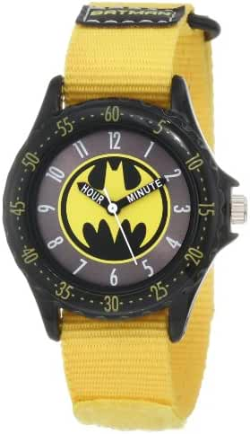 Batman Kids' BAT5040 Batman Time Teacher Watch with Yellow Canvas Band