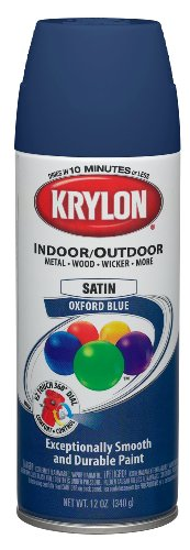 (Krylon (K05352307-6 PK Oxford Blue Decorator 'Satin Touch' Spray Paint - 12 oz. Aerosol, (Case of 6))