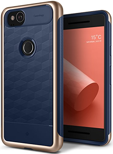 Caseology Parallax Series Google Pixel 2 Cover Case with Design Slim Protective for Google Pixel 2 (2017) - Navy Blue