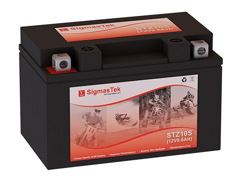 12 Volt 8.6 Amp Hour Sealed Lead Acid Battery Replacement with NB Terminals by SigmasTek STZ10S
