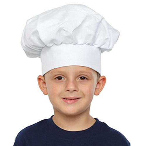 Amazon.com  Kids White Chef Hat  Clothing a7aad5dbbde