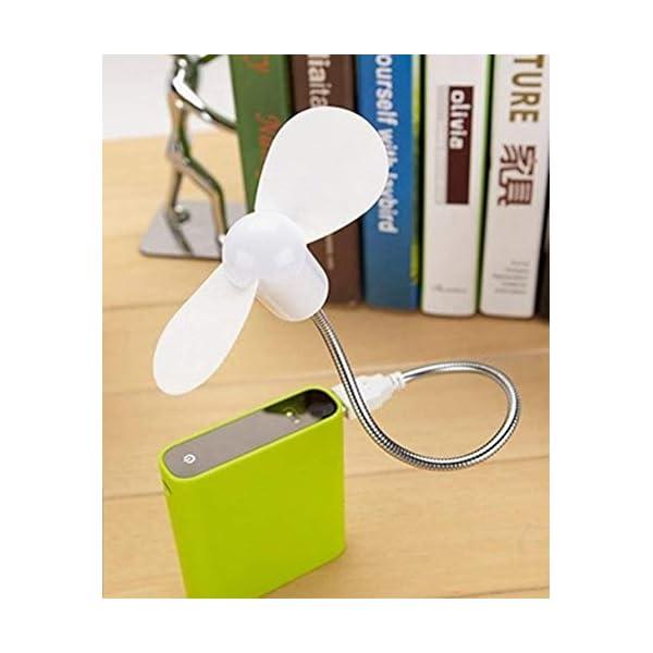 Beeria, mini ventilatore USB portatile pieghevole per computer portatile, netbook, tablet, ventola flessibile in metallo… 7 spesavip