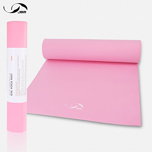 JBM Exercise Yoga Mat for Pilates Yoga Fitness Workout High-Density Non-Slip 1/4 Inch EVA Yoga Mat 72