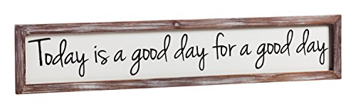 (Cape Craftsmen Cypress Home Today is a Good Day Framed Wooden Wall Art, 6 x 30 inches )