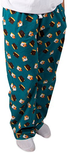 Pavilion - S'Mores Chocolate and Marshmallow Unisex Pajama Pants with Pockets - X-Small by Pavilion Gift Company