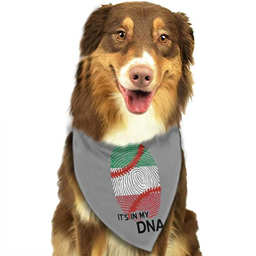 - CWWJQ88 Italian Flag Baseball in My DNA Pet Dog Bandana Triangle Bibs Scarf - Easy to Tie On Your Dogs & Cats Pets Animals - Comfortable and Stylish Pet Accessories