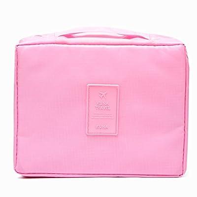 LULANMesdames sac cosmétique sac cosmétique voyage pochette portable voyage forfait de lavage à l'eau le groupe d'admission ,21*8*18cm, Rose