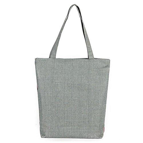 Sacchetto di spalla stampato elefante del sacchetto della tela di canapa , 4