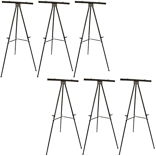 US Art Supply''Boardroom XL'' Extra Large 70'' Tall Holding 45-lb's Black Aluminum Flipchart Display Easel by US Art Supply (Image #5)