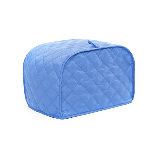 Toaster Cover, Polyester/Cotton Quilted Two Slice Toaster Appliance Cover,Dust and Fingerprint Protection, Machine Washable-2 YR Warranty (11W x 8D x 8H, Blue Polyester)