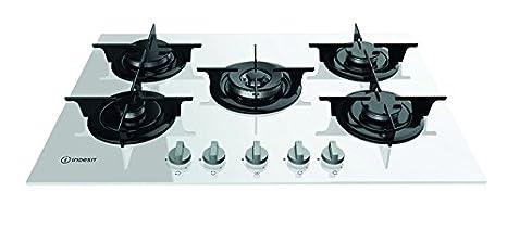 Indesit PR 752 W/I(WH) Piano cottura a gas da 75 cm; 5 fuochi a gas ...