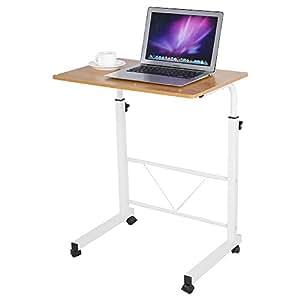 Zerone mesa de ordenador port til ajustable para sof cama for Mesa de ordenador con ruedas