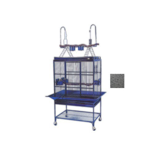 (Avian Adventures Mediana Playtop Bird Cage, Gray )