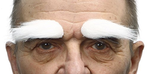 White Eyebrows Costume - White fake eyebrows, self adhesive