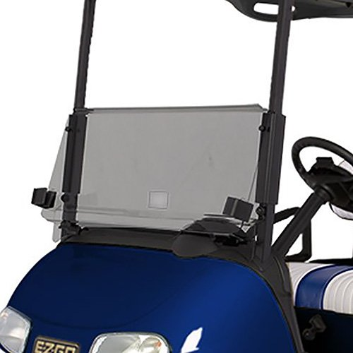 (EZGO RXV Tinted Fold Down Impact Resistant Windshield for EZGO RXV Golf Cart - INSTALLS in Minutes)