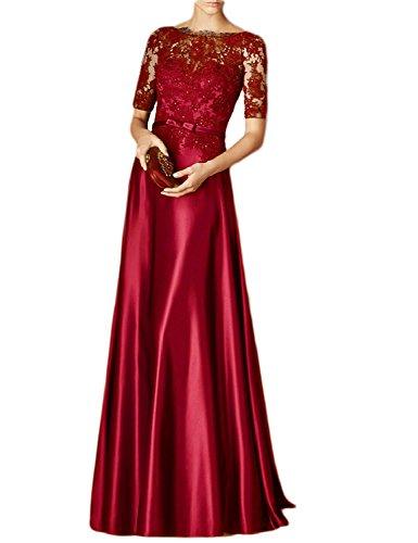 Toscana novia Rueckenfrei por la noche de sueño durante la gasa Ranura de fiesta a bola vestidos Rojo