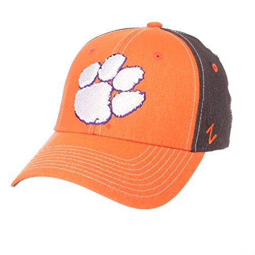 ZHATS NCAA Clemson Tigers Men's Dusk Hat, X-Large, Team Color/Dark Grey