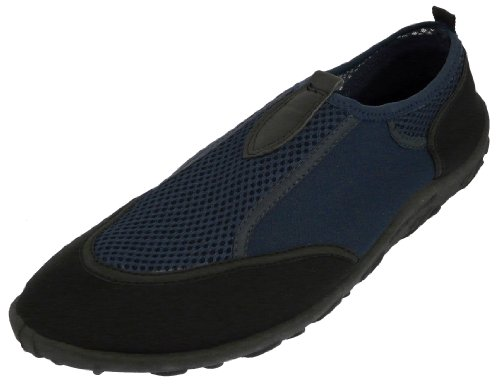 Beach Basics Men's Water Shoe - Aqua Sock NAVY 11
