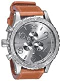 Nixon 51-30 Chrono Leather Watch Saddle, One Size [Watch] Nixon