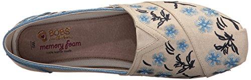 De Blossom Planas Peluche Sandalias Cherry Natural Fashion de Skechers Las Bobs Mujeres Natural TC7wgFCq