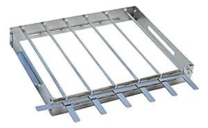 KonExcel.com SkeweRack - Turns 6 Kabobs Simultaneously, Sturdy Stainless Steel Shish Kabob Skewer & Rack Set (1 Rack + 6 Skewers)