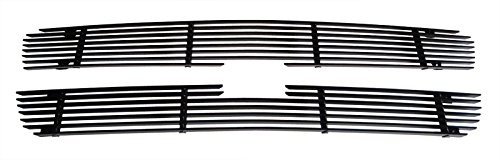 MaxMate Fits 03-06 Chevy Avalanche/03-05 Silverado 1500/03-04 Silverado 2500/3500 Upper 2PC Bolton Black Billet Grille Grill Insert (Billet Grille Assembly)