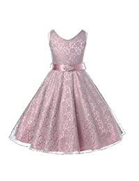 Sanling Lace Flower Girl Dresses for Weddings Floor Pageant First Communion