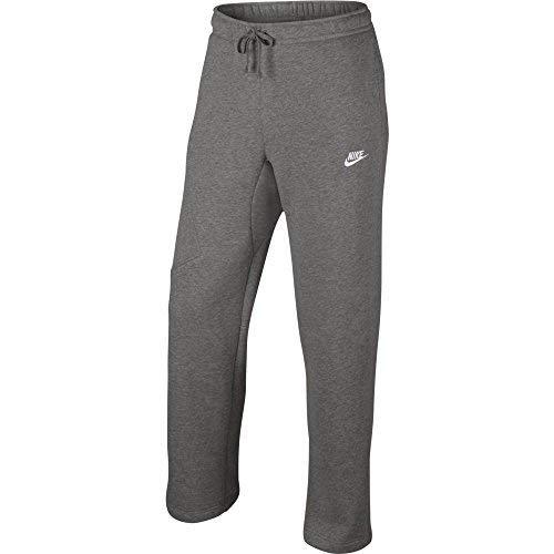 NIKE Mens Open Hem Fleece Pocket Sweatpants Light Grey/White 823513-063 Size Medium ()