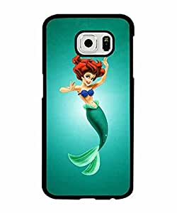 Galaxy S6 Fundas Case, Samsung Galaxy S6 the Little Mermaid Disney series Animation Back Fundas Case & Cover for Hard Plastic