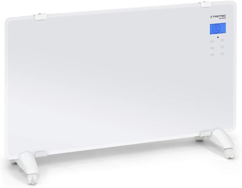 Trotec Diseño de cristal convector de TCH 2010S | Termoventilador | calefactor | Calefacción, 2niveles de calor, 2.000W potencia de calentamiento
