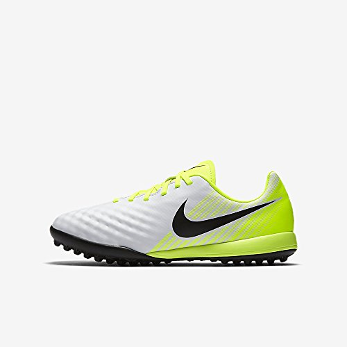 NIKE Youth Magistax Opus II Turf Shoes [White] (1Y) by NIKE