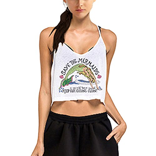 Damen Tank Tops IHRKleid® Frauen Cami Casual Weste Mädchen Sommer Gedruckt Shirt CEbcr